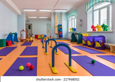 children's room with gym equipment