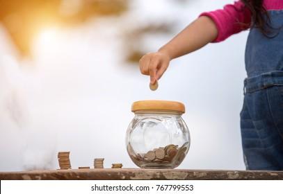 Children's savings: Ideas for children to save money.