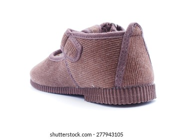 Children's shoes on a white background