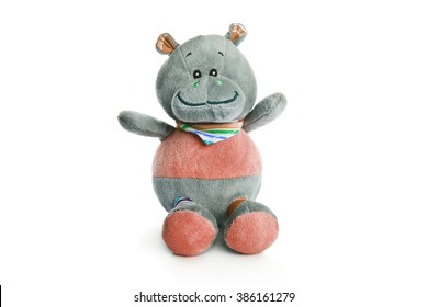 childrens soft toy isolated on a white background