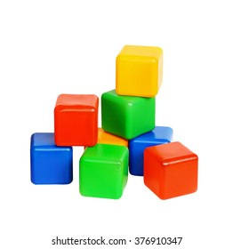 """Children's toy """"Cubes"""" isolated on white"""