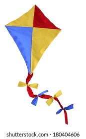 children's toy kite on white
