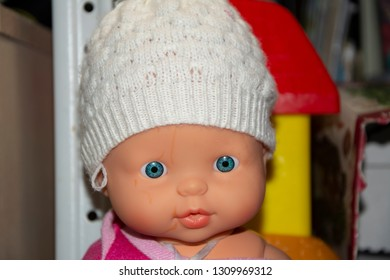 Children's toy for little girl Doll. Close up.