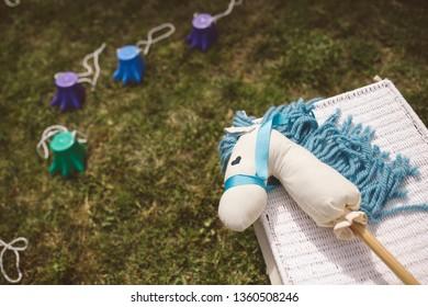 Children's toys in the garden.