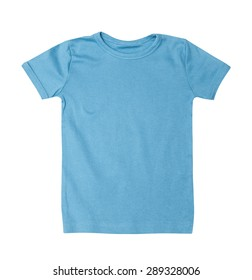 Children's wear - blue shirt isolated on the white background