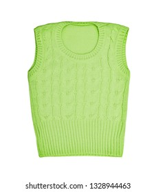 Children's wear -  kid's baby green stylish vest. clothes waistcoat,  isolated on white background