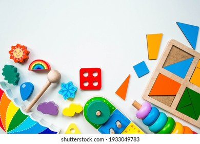 Children's wooden toy. Sorter on a white isolated background.. Educational logic toys for children. Montessori Games for child development.
