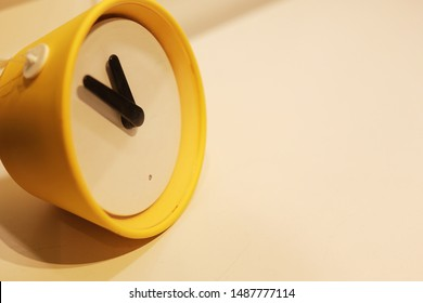 a children's yellow desk watch