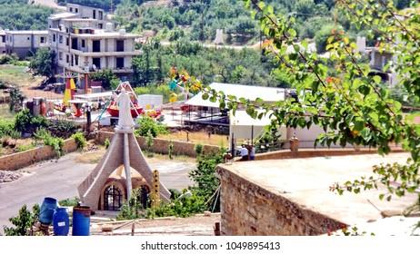 Children't park in a small village in Lebanon