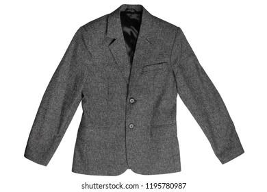 Child's classic jacket isolated on white background