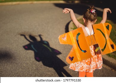 Child's Colorful Fairy Butterfly Shadow