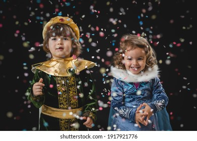 Childs costume os sultan pirate princess blue with confetti for carnival carnaval halloween