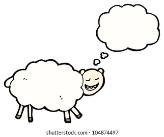 child's drawing of a sheep