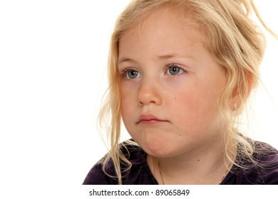 child's head. portrait of a little girl. with a sad look