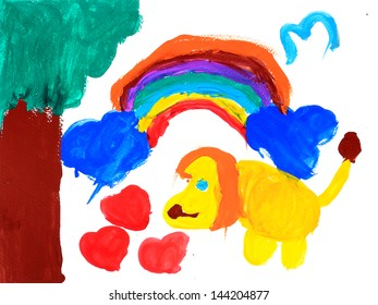 Child's painting on paper