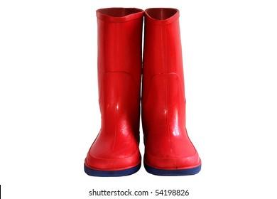 Child's Red Rain Boots