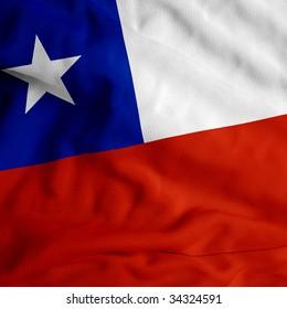 Chile cloth flag