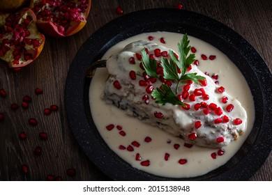 Chile en Nogada, traditional Mexican cuisine in Puebla