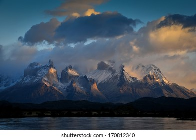 CHILE - FEBRUARY 19: Serrano River and Torres Del Paine National Park