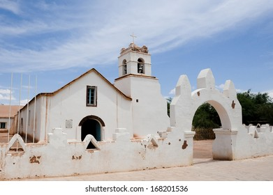 CHILE - FEBRUARY 9: The San Pedro de Atacama Church in San Pedro near the Atacama Desert in northern Chile in South America.
