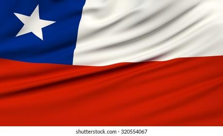 Chile Flag. 3d illustration