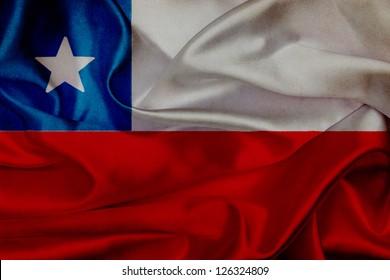 Chile grunge waving flag