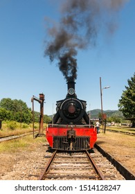 Antiñue, Chile - January 13, 2018: Tourist train called Valdiviano that runs from Valdivia to Antilhue with a 1913 North British locomotive type 57. Los Rios Region, in southern Chile.