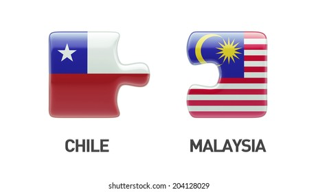 Chile Malaysia High Resolution Puzzle Concept