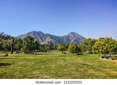 Chile Santiago Landscape View at Park Bicentenario