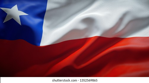 Chilean flag. (Chile)