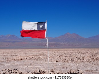 Chilean flag in San Pedro de Atacama