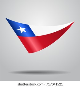 Chilean flag wavy abstract background. Raster version.