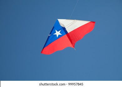 Chilean Kite flying in the sky