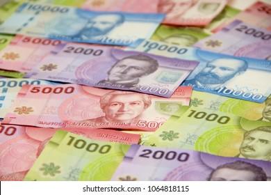 Chilean peso bills - background