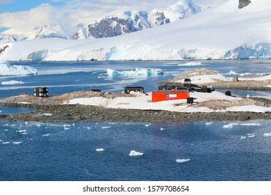 The Chilean González Videla Antarctic Base in  Paradise Bay on the Danco Coast, Antarctica - January, 2017