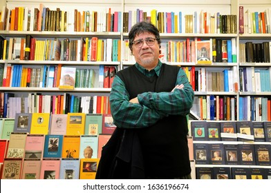 Chilean writer and novelist Luis Sepulveda photographed in Rome. September 2019. Photo By Roberto Cano'