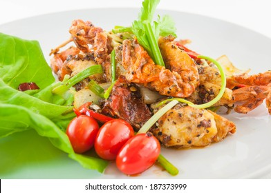 Chili fried crab with black peper
