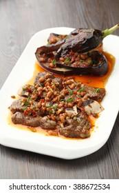 chili fried eggplant
