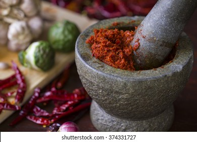 Chili paste in Thai cooking
