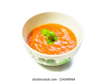 chili sauce suki asia style food isolated on white backgrounds