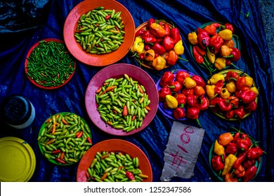 Chilies on Nadi Market, Fiji Islands