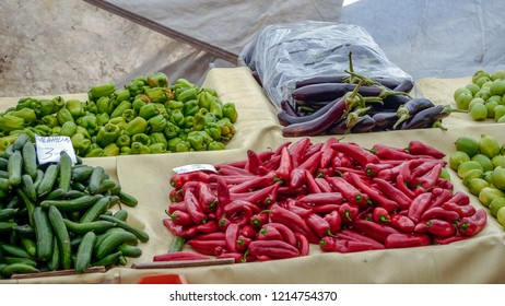Chilis for sale in Turkish Market