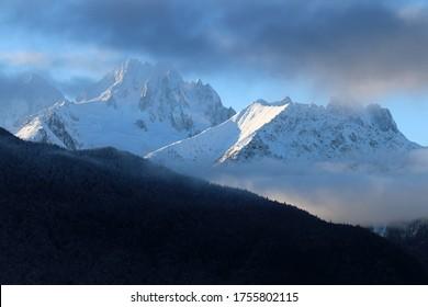 Chilkat Mountains in Haines Alaska