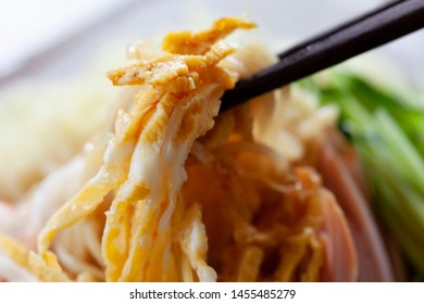 Chilled Chinese noodles/Hiyashi Chuka is a cold Japanese dish with  Chinese noodles and various toppings.