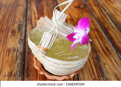Chilled Thai Eastern Style Sweet and Sour Calamansi Citrus Juice Served on Wooden Table