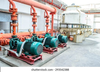 chiller water pump with pressure gauge