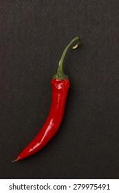 chilli pepper over wallpaper texture