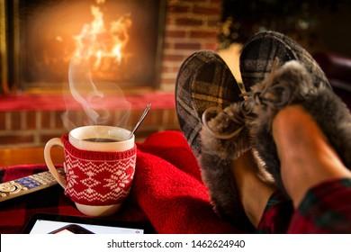 Relaxing Fireplace Images, Stock Photos & Vectors | Shutterstock