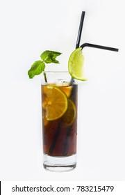 Chilling Cuba Libre cocktail