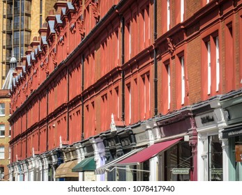 Chiltern Street in Marylebone in west London, an upmarket British shopping destination with luxury shops and night life venues